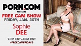 Sophie Dee to Give FREE Cam Show for UK Fans TOMORROW!