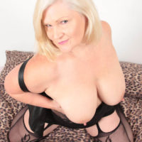 Topless Lacey Starr in Stockings