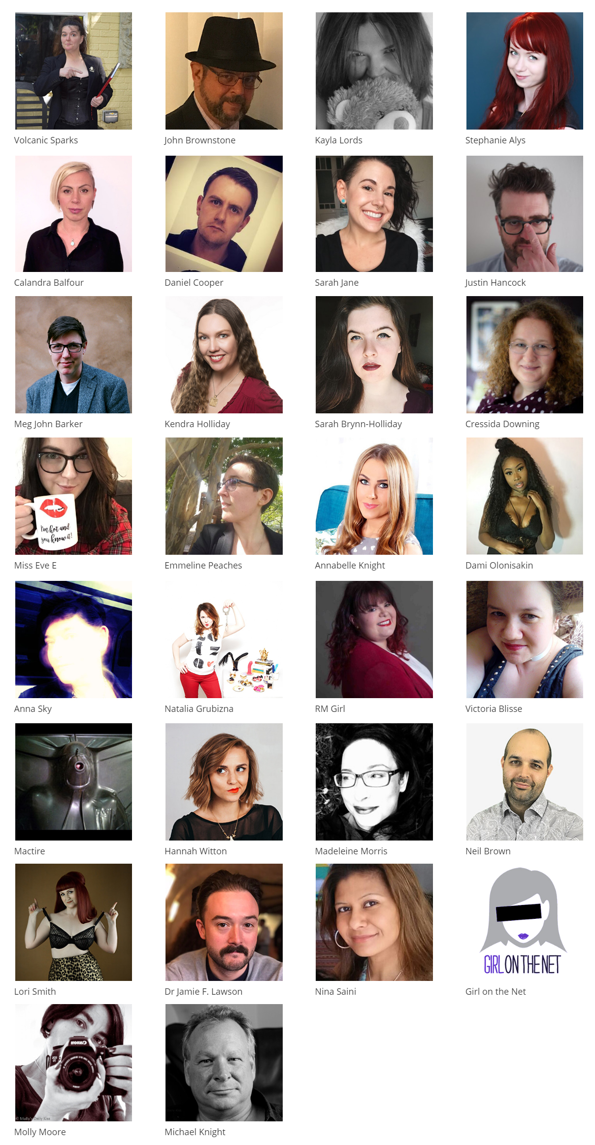 the speakers at Eroticon 2018